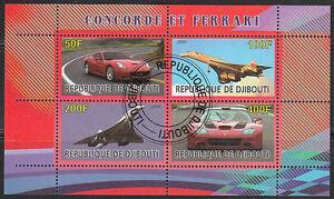 Souvenir sheet of Auto Speed car Aviaplane Concorde Ferrari CTO NH.
