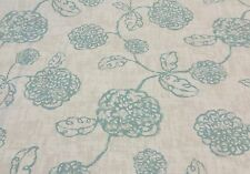 "MAGNOLIA HOME ADELE SPA BLUE FLORAL TOILE FURNITURE FABRIC BY THE YARD 54""W"