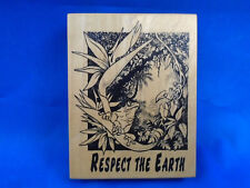 PSX Respect the Earth Rubber Stamp K-1622 Bird of Paradise, Frog