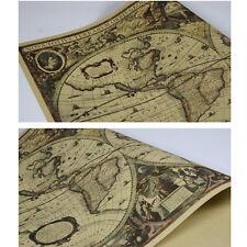 Große Vintage Globe Alte Seekarten nostalgisches Retro Kraftpapier Plakat 1pc