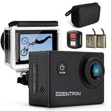 SEENTRON v3 Action Camera, 4K Ultra HD Wi-Fi Waterproof Sports Camera with 16MP