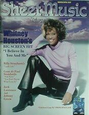 1997 Sheet Music Magazine W/ Whitney Houston Cvr