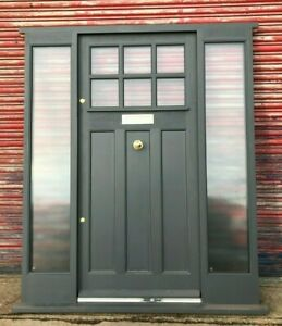 Hardwood Timber Entrance Front Door with sidelights! Bespoke! Made to measure!
