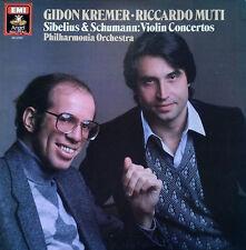 SIBELIUS & SCHUMANN / VIOLIN CONCERTOS - G.KREMER / R.MUTI - ANGEL - DIGITAL LP