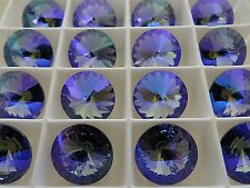 2 Tanzanite Glacier Blue Swarovski Rivoli Stone 1122 14mm