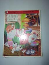 Frame-Tray Puzzle Rainbow Works LETTERS TO SANTA Vintage 1973 NOS