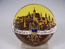 Antike ADAC Plakette Bautzen alte Feste an der Spree 1933