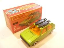 Vintage Lesney Matchbox Superfast En Caja Diecast VW Volkswagen Golf Excelente