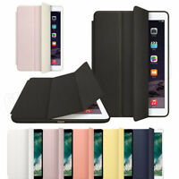 Genuine Leather Smart Wake Protector Case Cover For iPad Mini Air Pro 10.5 12.9