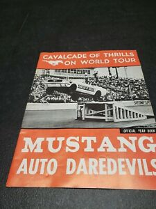 1966 FORD MUSTANG Auto DAREDEVILS Tournament of Thrills Program Yearbook Vintage