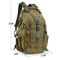 Backpack Camping Bag Tactical Rucksack Camo Assault Molle Trekking Military Q4H3