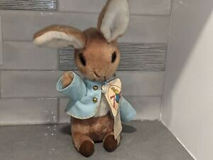 "PETER RABBIT Vintage 1972 Plush Doll/Stuffed Animal 15"" Bunny Eden Toys w/ Tag"