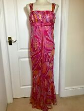 Ladies Stunning LIBRA Maxi Dress 100% Silk Size 12. Worn Only Once !!!!