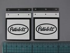 "Pair Mud Flaps Guards Mounting Plate ""Peterbilt"" Logo Tamiya RC 1/14 King Hauler"