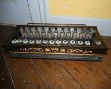 Ancien ACCORDEON ROMANTIQUE marqueté XIXème Antique FLUTINA old accordion 19th c