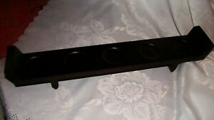 Hallmark 5 Tea Light Candle Wood Holder Brown Sleek Modern Strip Table Decor
