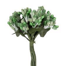 144 Mini Flower Stamen Beads Buds Sugarcraft Cake Gift Box DIY Decor Green