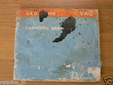 1967 EN 1980 VW TECHNISCHE GEGEVENS, 3 BOOKS NOT COMPLETE AND NOT 100 % OK