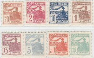HONDURAS  1898  ISSUE RAILWAY FULL SET UNUSED SCOTT 103/110