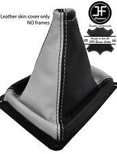 Negro Y Blanco Cuero de grano superior MANUAL GEAR GAITER encaja Kia Sorento MK1 02-09