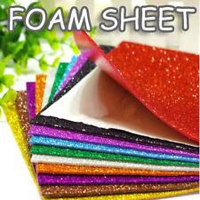 Glitter Craft Foam Sheets 2mm Thick EVA Pads- A4- Children Kids Art and Craft