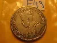 Key Date Rare Canada 1936 Bar 25 Cent Coin  ID# F43.