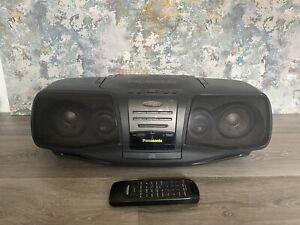 Panasonic Mash RX-DT07 Portable Cd Tape Radio Boom Box Fully Working + Remote