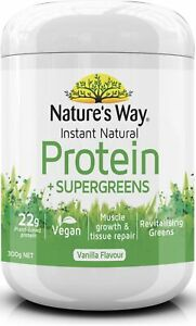Instant Natural Protein Super Greens 300g x 2 Pack Nature's Way