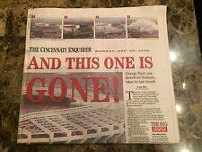 Cincinnati Reds (Newspaper) - Cinergy Stadium Gone 12/30/02-Cincinnati Enquirer