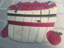 Table Placemats Apple Design Red And Beige Preowned 4 Piece Setting Vinyl