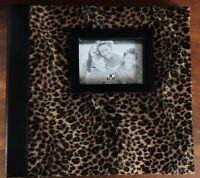 "15"" x 13"" Make Your Mark Scrapbook Photo Album Leopard Skin Cover"
