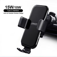 10-15W Car Cell Phone Mount Wireless Charger Air Vent Phone Holder Fast Charging