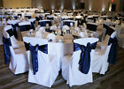70 White/Black Polyester Wedding Venue Banquet Round/Square Top Chair Covers NEW