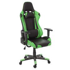 Schreibtischstuhl MCW-D25, Gamingstuhl, 150kg belastbar Kunstleder schwarz/grün