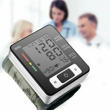 Rate Digital Sphygmomanometer Cuff BP Wrist Blood Pressure Monitor Home Medical
