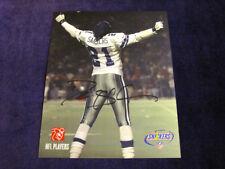 "DEION SANDERS Autographed 8""x 10"" DALLAS COWBOYS Football Great EXCELLENT"