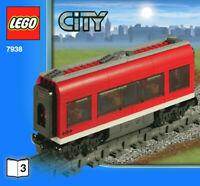 LEGO 7938-3 Center Passenger Carriage SPLIT From 7938 Passenger Train Set NEW