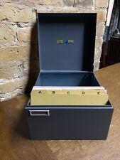 Steelmaster Metal Index Card Cabinet 958 Drawer File Holder Nice No Rust