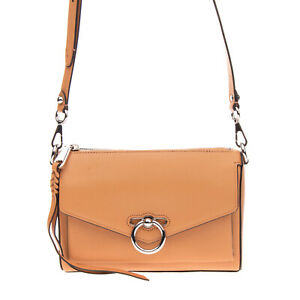 RRP €290 REBECCA MINKOFF Leather Crossbody Shoulder Bag Pebbled Panel Zipped