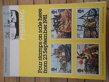 Royal Mail A4 Bureau de Poste Affiche 1981 la pêche commerciale MER chalutier