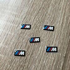 5 PCS AUTOCOLLANT STICKER 3D LOGO BMW M 1,7 X 0,9 CM JANTES VOLANT