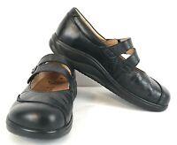 Finn Comfort Sacramento Mary Jane Shoes Black Leather Hook Loop Womens US Sz 6