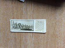 M12c Ty-phoo typhoo Tea card Wonder cities of the world no 25 new york city
