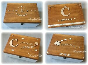 ⭐️Baby Kids Large/ XL Personalised Wooden Memory Keepsake Box Birthday Gift