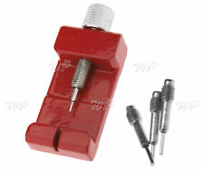 Watch Band Bracelet Link Adjuster Remover Red Aluminum Alloy With 3 Extra Pins