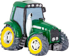 "Funny Money Box Tractor Green 6.7""  Piggy Bank Cash Saving Fund Witty Gift Idea"