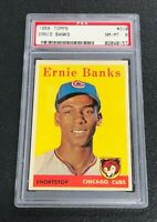 Chicago Cubs Ernie Banks 1958 Topps  #310 PSA 8 Near Mint-Mint