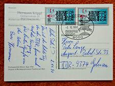 9253) DDR: Postkarte MeF / Mi. 3353 / München nach Gelenau