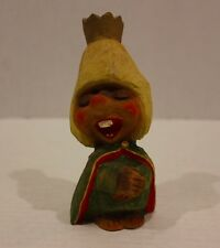 Henning Norwegian Wooden Troll With Gold Crown - Made in Norway
