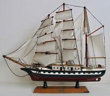 Vintage Wood Belem Sailing Ship Schooner Sail Boat Three Masted Barque France